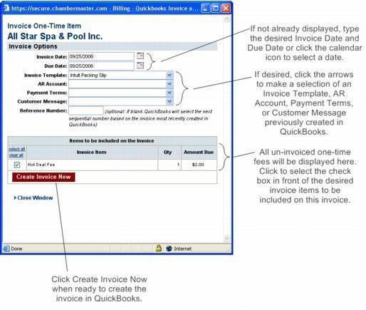 Invoice a OneTime Item – Membership Invoice Template