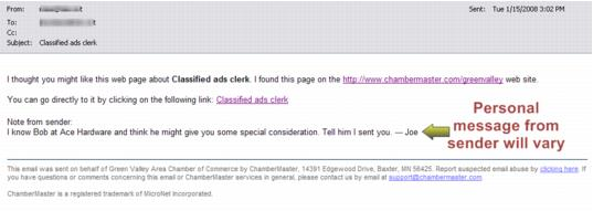 Emails Letters and Mailing Lists-3 Email generated by ChamberMaster sending a j-Communication.1.105.1.jpg
