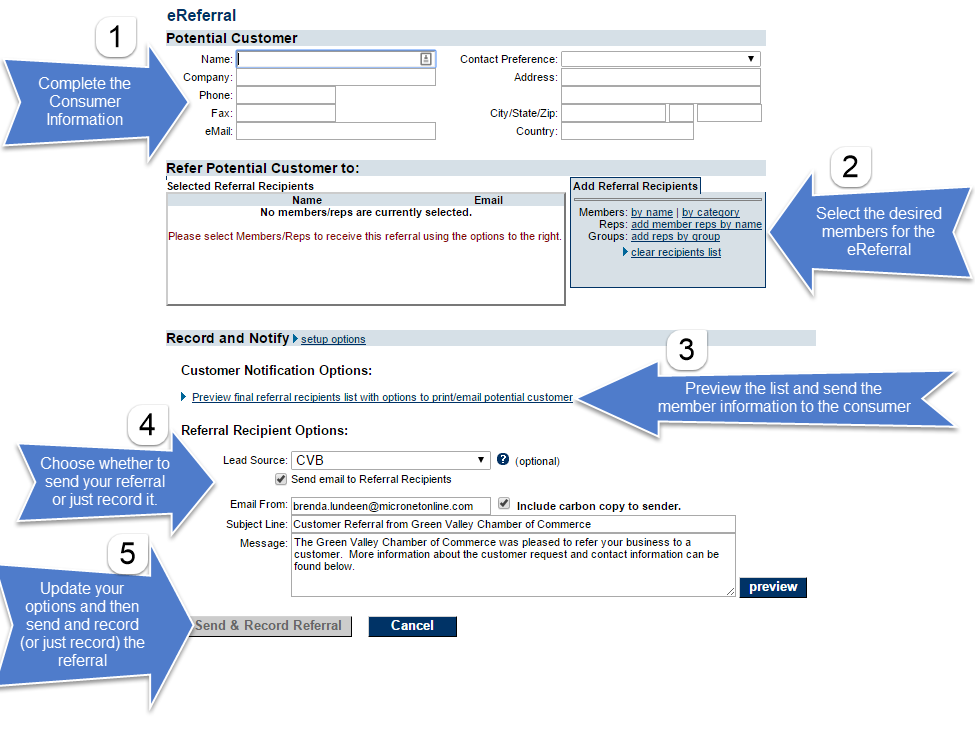 Quick steps to send an eReferral